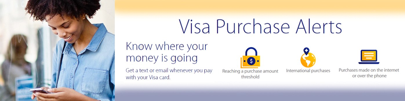 imgFirst Piedmont Visa Purchase Alerts